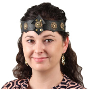 Warrior Queen Ornate Midnight Leather Headband