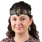 Warrior Queen Ornate Midnight Leather Headband