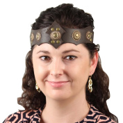 Warrior Queen Ornate Tawny Leather Headband