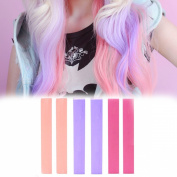 Bohemian Chic Pearlescent hair Dye Set of 6 | Pink Lilac Ombre BOHO Temporary Hair Chalk | With Shades of Rose Pink, Salmon, and Smokey Lilac | Colour your Hair Pearlescent Ombre in seconds with temporary HairChalk