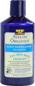 Avalon Organics Scalp Normalising Therapy Tea Tree Mint Shampoo, 410ml