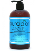 Pura d'or Hair Loss Prevention Premium Organic Shampoo, Brown and Blue (pack of 2