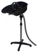 GHP Portable Adjustable Height Black Shampoo Basin Hair Swivel Bowl