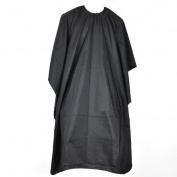 Sealike Professional Hair Salon Nylon Cape with Snap Closure Black Hair Cutting Cape with Stylus