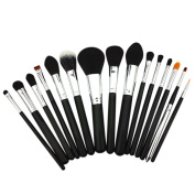XMJPS Professional 15 Pcs Makeup Brushes Set Powder Foundation Eyeshadow Eyeliner Lip Brush Tool