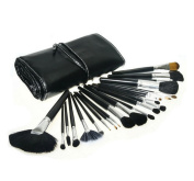ORVR 24pcs Professional Wool Cosmetic Makeup Brush Set Kit wish PU Bag