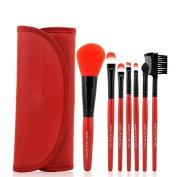 Safeinu Soft Professional Beautiful 7pcs Makeup Brushes Cosmetic Make Up Brush Set Kit Foundation with a Cosmetic Bag