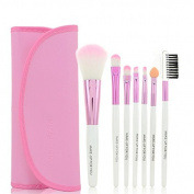 Safeinu Soft Professional Beautiful 7pcs Makeup Brushes Cosmetic Make Up Brush Set Kit Foundation with a Cosmetic Bag