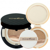 """Mirenesse Cosmetics"" 10 Collagen Cushion Foundation Compact Airbrush Liquid Powder SPF25 PA + Free Refill (15g15ml) - Shade 25. Bronze - AUTHENTIC"