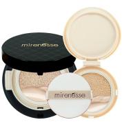 """Mirenesse Cosmetics"" 10 Collagen Cushion Foundation Compact Airbrush Liquid Powder SPF25 PA + Free Refill (15g15ml) - Shade 13. Vanilla - AUTHENTIC"
