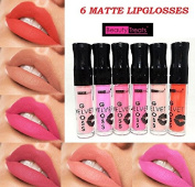 6 NEW Beauty Treats Velvet MATTE Ligloss Lipstick Long Wear 24 Hrs