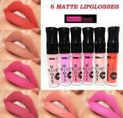 6 NEW Beauty Treats Velvet MATTE Ligloss Lipstick Long Wear 24 Hrs