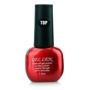 Gellen Soak Off Gel Top Coat 0.33 Fl Oze 7.5ml Red Bottle Packaged