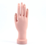 Hrhyme Soft Plastic Model Hand for Nail Art Practise