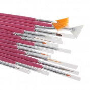 EveryOne-Buy 15Pcs Acrylic Nail Art Design Painting Drawing Brush Pen Polish Tips Set Tool