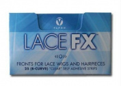 Lace Fx Tape By Vapon B Curve Double Sided Super Adhesive Clear Strips for Front Lace Wigs 2 Packs