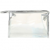 Ladies Diaphanous Plastics Zipper Closure Cosmetic Case Makeup Storage Bag