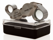 GC - 10X-20X Dual Butterfly Jewellers Jewellery Loupe Folding Magnifier Magnifying Glass Lens US FAST FREE SHIPPER