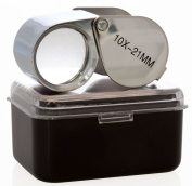 GC - 10X 21mm Jewellers Jewellery Loupe Folding Magnifier Magnifying Glass Lens US FAST FREE SHIPPER