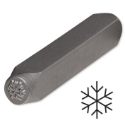Snowflake Steel Design Stamp Punch Tool to Embellish Metal, Plastic, Jewellery Blanks, Clay+