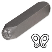 Butterfly Steel Design Stamp Punch Tool to Embellish Metal, Plastic, Jewellery Blanks, Clay+