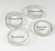 Droplet Wire Variety Pack 0.3m Of Each 14,12,10 Gauge Droplet And 0.3m Half Droplet 10 Gauge Sterling Silver