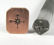 Compass Stamp On Professional Grade Tools For All Metals And Stainless Steel 9X9Mm