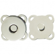 """Bluemoona 50 Sets - Magnetic Purse quincunx Snap 9/16"""" 14mm Clasps Closure Purse Handbag"""