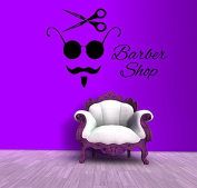 Wall Decals Beauty Salon Barber Shop Hair Hairdresser Hairstyle Scissors Barbers Hairdo Haircut Hairdresser's Appliances Vinyl Decal Sticker Home Decor