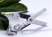 Szhoworld Scissors EDC Outdoor Tools Sprung Scissors with Key Ring 60*14mm Tactical