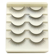 BestNow 5 Pair Handmade Natural Long and Thick False Eyelashes Fake Eye Lash Makeup Cosmetic