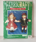 FABRICRAFT CHRISTMAS VICTORIAN CHILDREN DOLLS, VINTAGE 1990, Each 33cm Tall. BERNAT Kit no. 44001