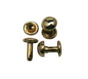 Amanteao Light Golden Double Cap Rivets Mushroom Cap 7mm and Post 8mm Pack of 200 Sets