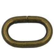 "Bluemoona 50 Pcs - 16mm 5/8"" Metal Loop Oval Rings Buckle for Webbing, Buckles Straps, Bags, Purses, Belting, Ribbon"