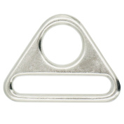 "Bluemoona 20 Pcs - 1.5"" 38mm Metal Adjuster Triangle Ring with Bar Swivel Clip D Dee Buckle"