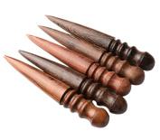 Sealike Wood Leathercraft Slicker Round Burnisher Multi-size Wood Slicker with Stylus