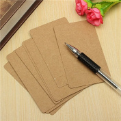 DCDEAL 100 Pages Double-sided Available Kraft Message Card Kraft Paper DIY Card Blank Kraft Cardboard Word Card Notepad set
