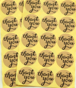 Sealike Round Thank You Kraft Paper Sticker Labels Envelope Sticker Crafts Wedding Favour Tag with Stylus