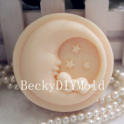 Creativemoldstore 1pcs Moon Baby(zx38) Craft Art Silicone Soap Mould Craft Moulds DIY Handmade Soap Mould