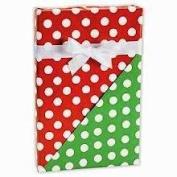 Christmas Polka Dot Reversible Gift Wrap Flat 60cm X 1.8m