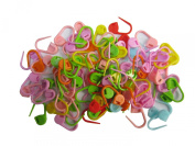 Lebeila Mix Colour Knitting Stitch Counter Crochet Locking Stitch Markers Stitch Needle Clip/Safety Pins For Baby's Clothing Usage (Colour Ship Randomly)