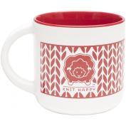 Knit Happy Knit Around Mug 410ml-Red