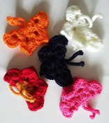 Hand-crocheted Wool Nylon Blend Yarn Butterfly Butterfly Beautiful Butterfly Blue Red White Pink Orange Mixed Five Suits