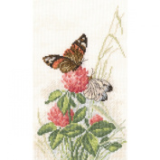 Butterflies On Clover Counted Cross Stitch Kit-14cm x 23cm 14 Count