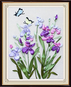 Wandafull Orchid 3D Colour Handmade Ribbon embroidery