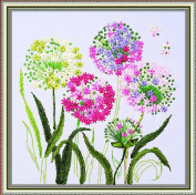 Wandafull 3D Colour Handmade Ribbon embroidery Dandelion