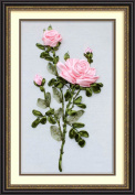 Wandafull Red Rose 3D Colour Handmade Ribbon embroidery