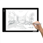 AGPtEK® LED Artcraft Tracing Light Pad Light Box (A4 Size) - Ultra-thin USB Power Cable Dimmable Brightness Tatoo Pad for Aniamtion Sketching Designing Stencilling