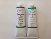 Cobalt green,extrafine oil paints(two handmade oil colour tubes 60ml each).