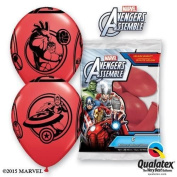 Marvels Avengers Assemble Red 30cm Qualatex Latex Balloons x 6